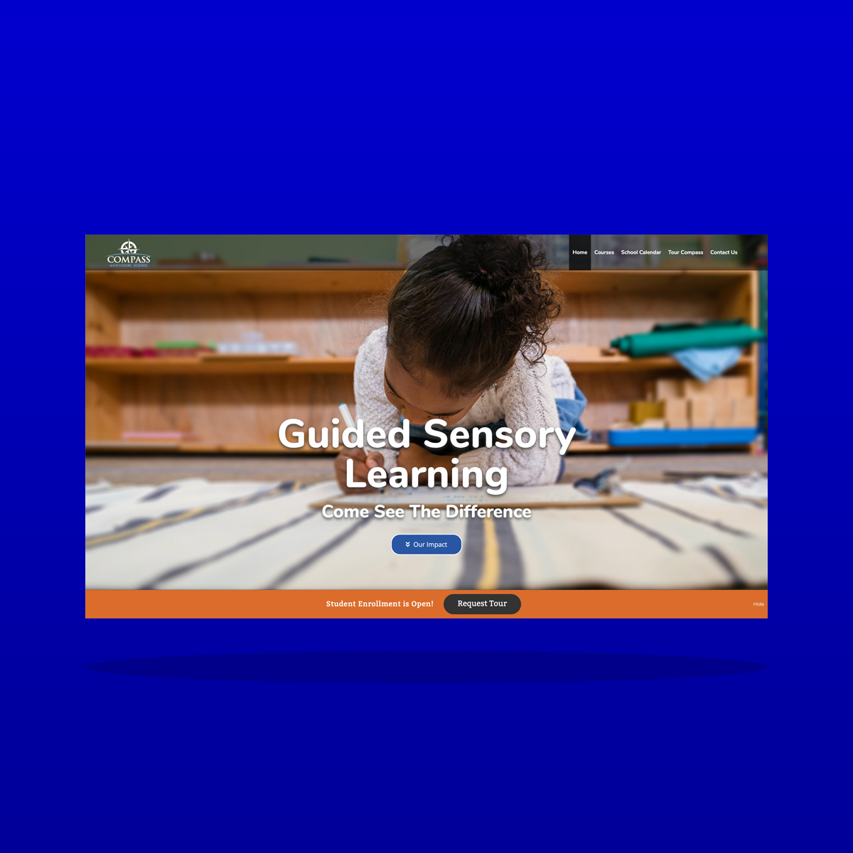 Early childhood education Montessori school website design by Clarity Business Design