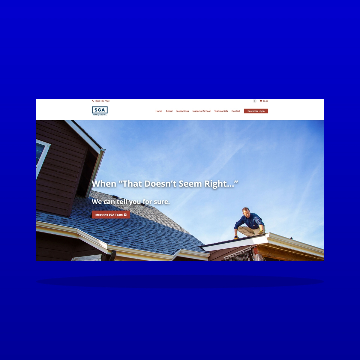 SGA Inspection, Inc (Lacey, WA) website design by Clarity
